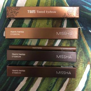 ミシャ(MISSHA)のミシャ 7days アイブロウ ティントマルーンブラウン(眉マスカラ)