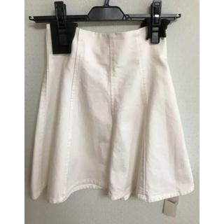 snidel - snidel ♡新品未使用!デニムスカート♡ホワイト♡スナイデル♡sweet