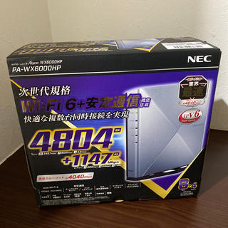 エヌイーシー(NEC)のラスト1台!NEC PA-WX6000HP Aterm Wi-Fiホームルータ(PC周辺機器)