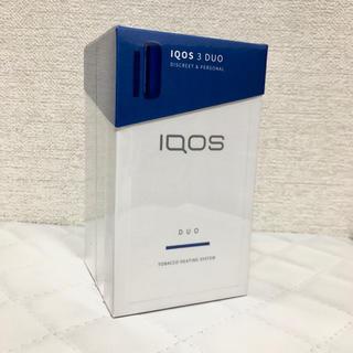アイコス(IQOS)のiQOS3 DUO ステラーブルー  新品 未登録品(タバコグッズ)