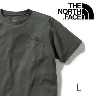 ザノースフェイス(THE NORTH FACE)の★新品 ノースフェイス シンプルロゴ ポケットTシャツ NT L カーキ(Tシャツ(半袖/袖なし))
