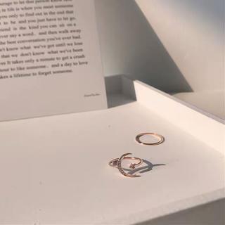 カスタネ(Kastane)の星月モチーフリングセット 韓国ファッション(リング(指輪))