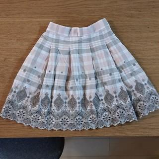 クミキョク(kumikyoku(組曲))の組曲 クミキョク 刺繍 チェックスカート(スカート)