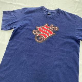 ステューシー(STUSSY)の【L】old stussy usa製 Tシャツ 紺タグ 90年代 カットソー(Tシャツ/カットソー(半袖/袖なし))