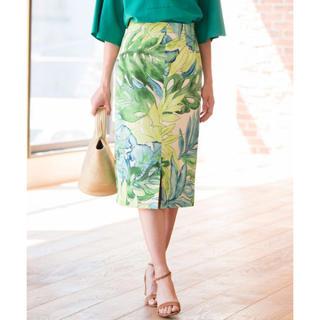 ANAYI - 美品 ANAYI BIGリーフプリントタイトスカート