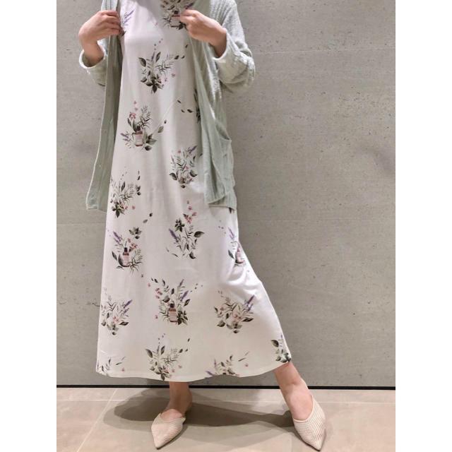 gelato pique(ジェラートピケ)の新品 HAPPY OILモチーフドレス ハッピーオイル 紗栄子さん ワンピース レディースのルームウェア/パジャマ(ルームウェア)の商品写真