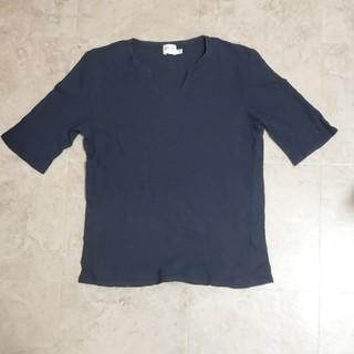 アルマーニ コレツィオーニ(ARMANI COLLEZIONI)の【アルマーニ】キーホールネックシャツ(Tシャツ/カットソー(半袖/袖なし))