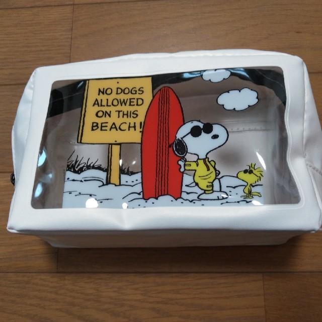 SNOOPY(スヌーピー)のスヌーピー ビニールポーチ エンタメ/ホビーのおもちゃ/ぬいぐるみ(キャラクターグッズ)の商品写真