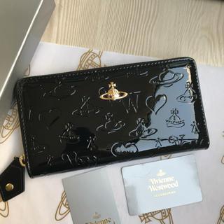 Vivienne Westwood - ◆新品◆Vivienne Westwood ファスナー エナメル長財布Black