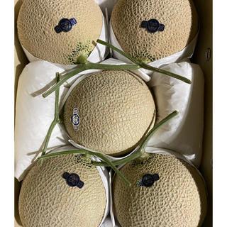 静岡 高級アールスメロン 白5玉 隔離栽培 アローマ マスクメロン(フルーツ)
