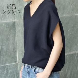 UNIQLO - 新品 UNIQLO 3DコットンコクーンVネックセーター  ブラック ユニクロ