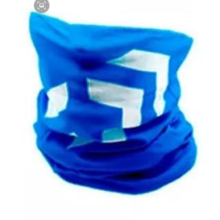 ダイワ ロゴ フェイスガード フェイスマスク ブルー×ホワイト(ウエア)