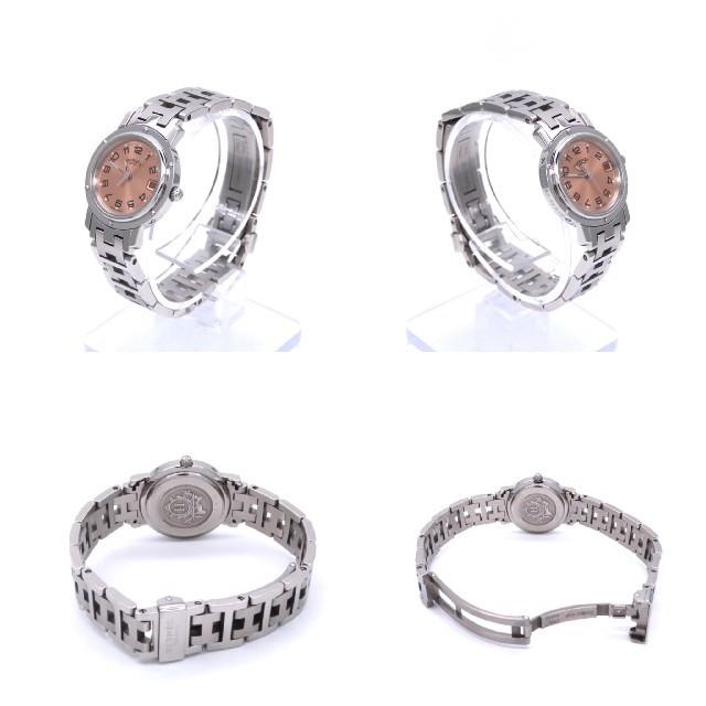 Hermes(エルメス)の【HERMES】エルメス腕時計 'クリッパー' ピンク文字盤 ☆美品☆ レディースのファッション小物(腕時計)の商品写真