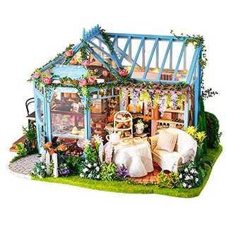CuteBee DIY木製ドールハウス、Rose Garden 、手作りキットセ(模型/プラモデル)