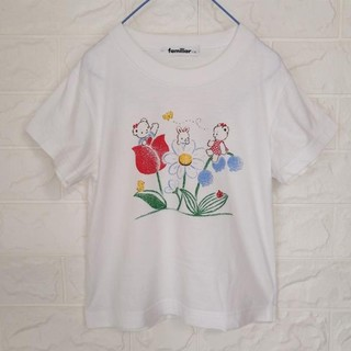 familiar - ファミリア リアちゃんチューリッププリントTシャツ 110