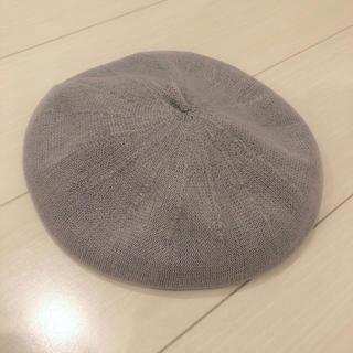 サマンサモスモス(SM2)のベレー帽 サマンサモスモス サマンサモス2 グレー サマーニット(ハンチング/ベレー帽)