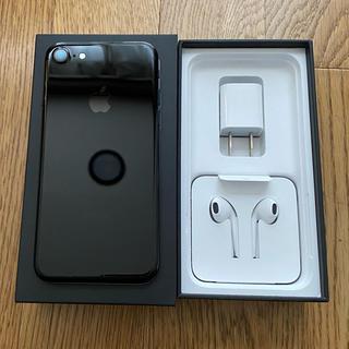エーユー(au)のiPhone7本体 1部付属品 au 32GB ジェットブラック(スマートフォン本体)