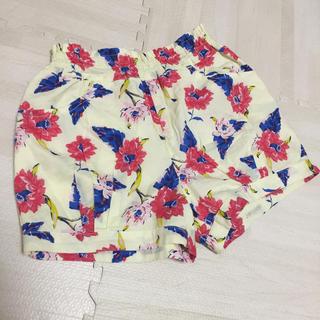 petit main - petit main 花柄ショートパンツ 110サイズ