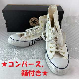 CONVERSE - ❤セール❤ 【コンバース】 スニーカー 靴 白 レディース メンズ 25.5cm