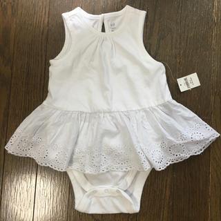 babyGAP - 新品 未使用 GAP ロンパース ワンピース 白 女の子