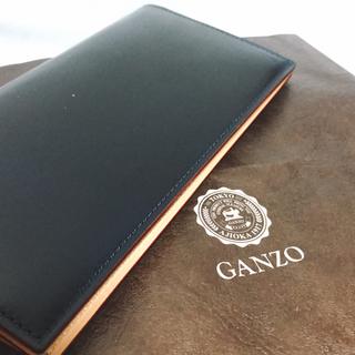 GANZO - 【GANZO】CORDOVAN ファスナー小銭入れ付き長財布 ネイビー