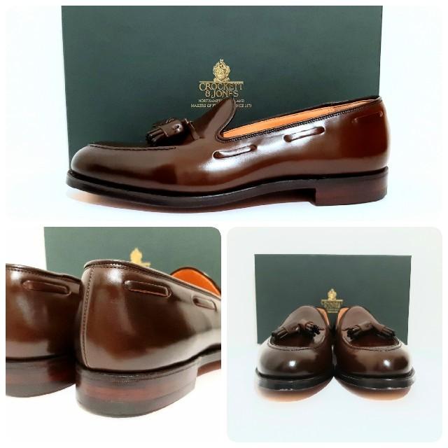 Crockett&Jones(クロケットアンドジョーンズ)の未使用 キャベンディッシュ3 コードバン クロケット&ジョーンズ UK7.5 メンズの靴/シューズ(ドレス/ビジネス)の商品写真