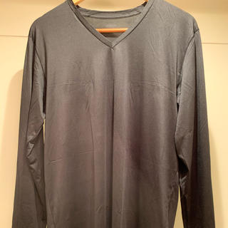 UNIQLO - ☆★ユニクロ エアリズムVネックTシャツ(長袖)  黒