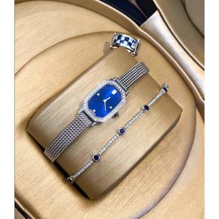 ハリーウィンストン(HARRY WINSTON)のハリーウィンストン エメラルド WG クオーツ レディース腕時計 高級 美品(腕時計)