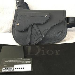 ディオール(Dior)のDior Homme saddle サドルバッグ  メッセンジャー ネイビー(ショルダーバッグ)