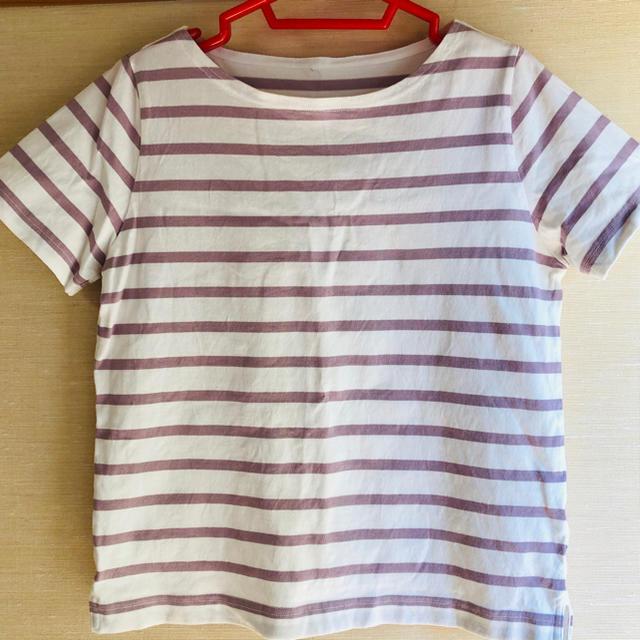 MUJI (無印良品)(ムジルシリョウヒン)のボーダーTシャツ 良品計画  レディースのトップス(Tシャツ(半袖/袖なし))の商品写真