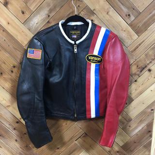 バンソン(VANSON)のvanson Single riders jacket 34(ライダースジャケット)
