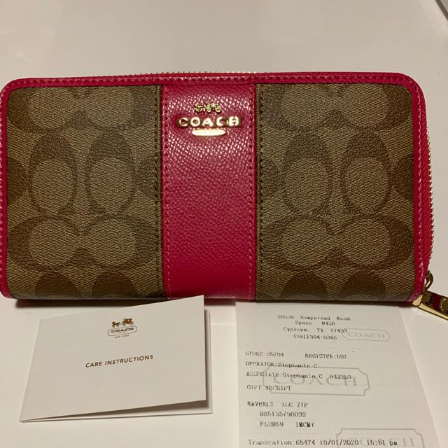 COACH(コーチ)のお値下げ‼️coach 長財布 ピンク レディースのファッション小物(財布)の商品写真