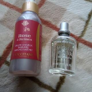 ロクシタン(L'OCCITANE)のロクシタンヘアミスト新品とムスクの香水セット(ヘアウォーター/ヘアミスト)