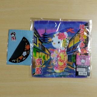 ハローキティ(ハローキティ)の京都お土産セット くし ハローキティハンカチ(ヘアブラシ/クシ)