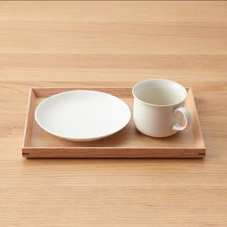ムジルシリョウヒン(MUJI (無印良品))の【新品】無印良品 木製角型トレー 2枚セット(テーブル用品)