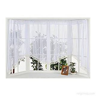 ★新品★出窓 レース カーテン 出窓用カーテン アーチタイプ(レースカーテン)