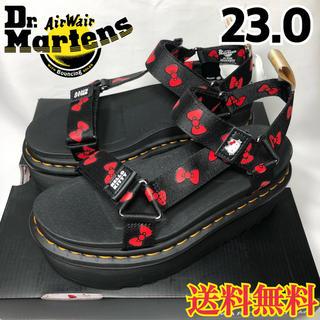 ドクターマーチン(Dr.Martens)の新品◉ドクターマーチン ハローキティ コラボ 厚底 サンダル ブラック 23.0(サンダル)