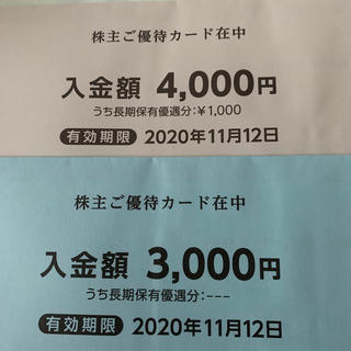 ニシマツヤ(西松屋)の西松屋 優待 7000円分(ショッピング)