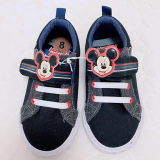 Disney - ミッキー ブラックスニーカー15cm