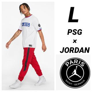 ナイキ(NIKE)のPSG JORDAN NIKE 半袖Tシャツ Lサイズ(Tシャツ/カットソー(半袖/袖なし))