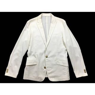 コムサメン(COMME CA MEN)のコムサデモードメンリネンコットンテーラードジャケット白M新同美品(テーラードジャケット)
