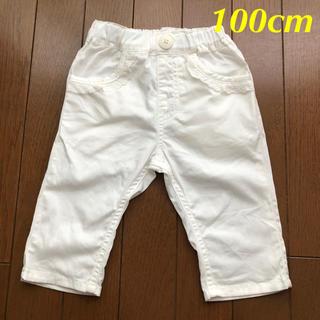 ムージョンジョン(mou jon jon)のmou jon jon ムージョンジョン 白クロップドパンツ 100cm(パンツ/スパッツ)