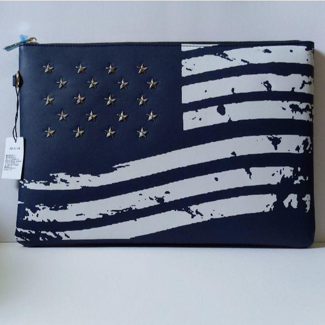 アメリカ国旗☆クラッチバッグ【ネイビー】 メンズのバッグ(セカンドバッグ/クラッチバッグ)の商品写真