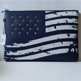 アメリカ国旗☆クラッチバッグ【ネイビー】