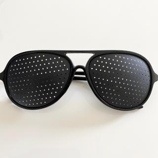 【新品】ピンホールメガネ 近視 視力回復(サングラス/メガネ)