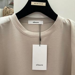 ドゥロワー(Drawer)のエブール・ebureTシャツ38.ベェージュ(Tシャツ/カットソー)