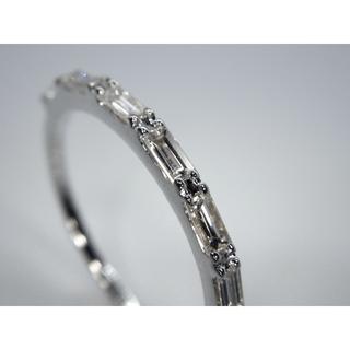 新品! K18WG ホワイトゴールド 0.27ct ダイヤモンド リング 指輪 (リング(指輪))