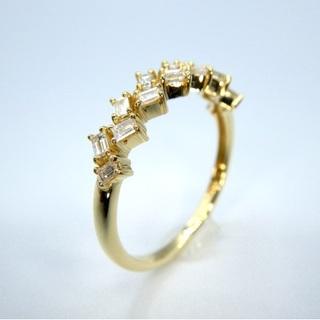 新品❗️ K18YG イエローゴールド 0.27ct ダイヤモンド リング (リング(指輪))