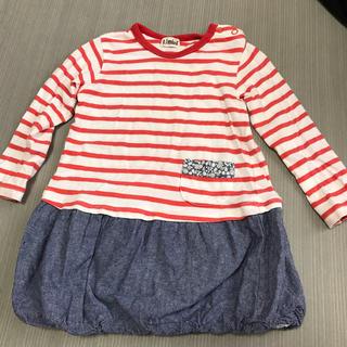 ターカーミニ(t/mini)の子供服 サイズ95㎝ ボーダーワンピース(ワンピース)