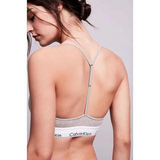 カルバンクライン(Calvin Klein)のSサイズ グレー ブラとTバック カルバンクライン(ブラ&ショーツセット)